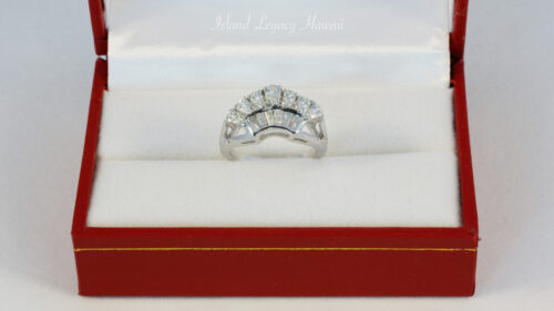 14K White gold ring 7PS 9/13