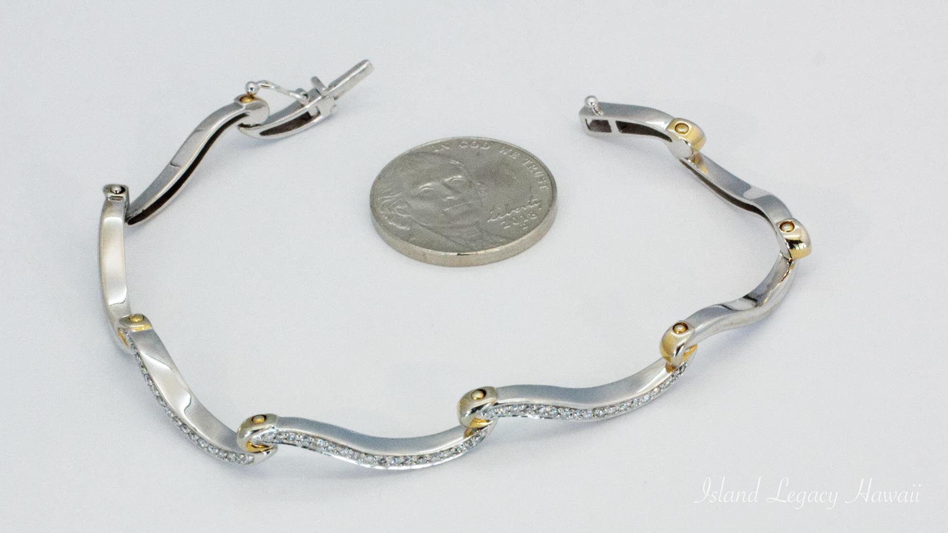14K White gold bracelet #110-M072308M4