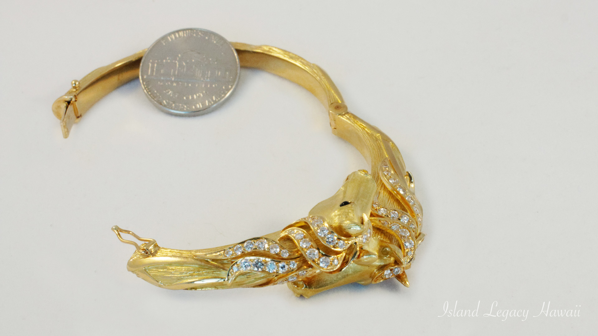 Two Horse Bracelet 12/14 #9-brac